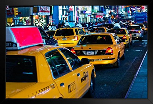 Poster Gießerei Traffic in Times Square Midtown New York City NYC Foto Kunstdruck von proframes 20x14 inches Framed Poster