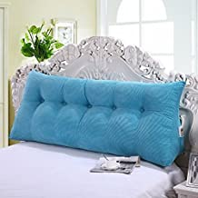 Cojines del sofá almohada de noche Cama de almohada grande triangular Almohadones de respaldo doble paquete suave sofá gran respaldo almohada almohada lumbar hogar Oficina ( Color : #5 , Tamaño : 60*20*50cm )