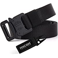 "FEIKCOR Cinturón Táctico Cinturón Militar de Servicio Pesado Cinturón Deportivo de Nylon 1000D Cinturón Deportivo con Hebilla de Metal 1.0"" An."