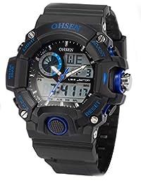 AMPM24 OHS218 - Reloj para hombres, correa de silicona color negro