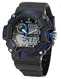 EASTPOLE Dual LCD Anzeige Herren Armbanduhr Quarzuhr mit Armband aus Silikon Sport Uhr OHS218