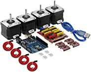CNC Shield V3.0 Expansion Board R3 Board 4*A4988 Driver 4 * 4401 Stepper Motor Kit with Heatsink USB Cable for