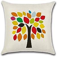 Decorativa almohada multicolor algodón Imprimir Impreso Sofá Decoración Cojín Caso agarre Bar Funda de almohada cojín de móvil Salón Bunt-2