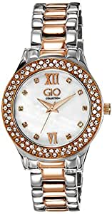 Gio Collection Analog White Dial Women's Watch - FG2002-22