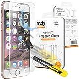 Orzly - Premium Vetro Temperato 0,24mm per iPhone 6 ( 2014 ) - iPhone 6s ( 2015 ) - Pellicola Prottetiva in Vetro Solido, per una Protezione dello Schermo Ultra Resistente 8-9H - TRASPARENTE