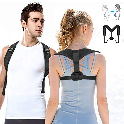 OUTERDO Haltungstrainer, Geradehalter zur Rücken Haltungskorrektur Posture Corrector, Rücken Sitzhaltung Korrektor für Damen und Herren, Rückentrainer eine Größe vorne Verstellbarer Schultergurt