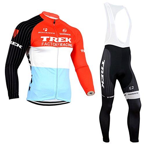 Strgao 2016 Herren Radtrikots mit Tr?gerhose Pro Rennen Team Trek Radfahren Langarm Radhose MTB Radbekleidung Radfahren Anzug cycling jersey pants set suit -