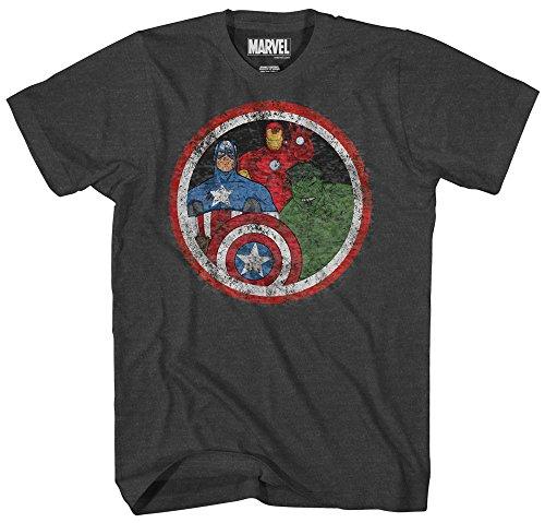 Marvel Boys' Big Boys' Avengers T-Shirt, Charcoal Heather, SMALL (Bekleidung Big Kids Charcoal)