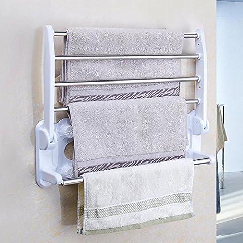 SSBY In acciaio inox-parete asciugamani, Portasciugamani doppio cupule potente, solido-rimovibile portasciugamani