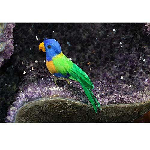 WDDqzf ornamentSkulptur Dekoration Künstliche Vogel Gefiederte Realistische Garten Wohnkultur Ornament - Multi, Papagei # 4, Multi, Papagei # 2