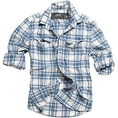 CLASSIC para hombre diseño de cuadros SURPLUS leñador camiseta de manga larga 100% estilo RETRO de