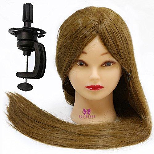 Neverland Beauty Cabeza Maniquí Peluqueria practicas Formación muñeca de la cosmetología 76cm 100% Cabello sintético (con soporte) #27