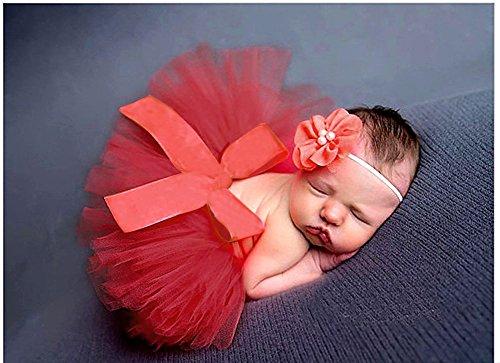 s Baby Fotografie Prop Kostüm Outfits Tütü Kleid Rock Pettiskirt und Kopfschmuck Stirnbänder Set (Häkeln Baby Kostüme)