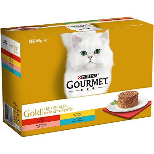 Gourmet Gold Les Timbales verschiedene Sorten für Katzen, 12 x 85 g - 8 Stück