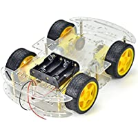 MakerHawk 4-wheel Robot Smart Car Chassis Kits coche con Speed Encoder para Arduino