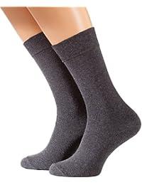 8 Paar Herren COMFORT Socken, anthrazit Ohne Gummibund, Baumwolle mit Elasthan