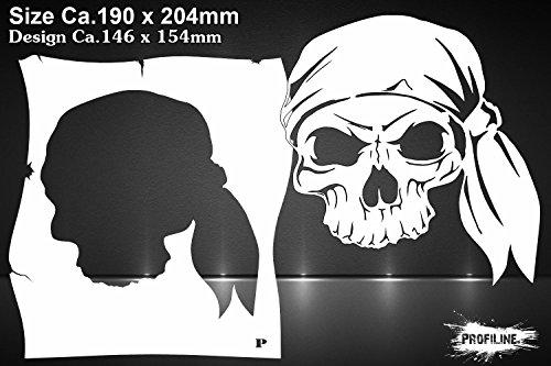 Airbrush Schablone Pirat Schädel - Stencil