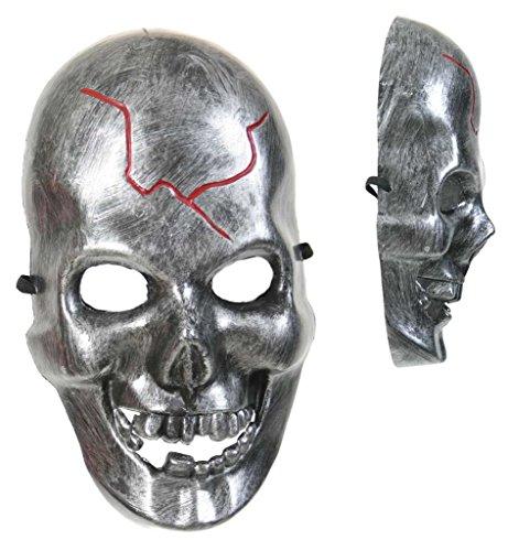 Halbmaske Schädel Halloween Maske für Erwachsene Universalgröße Unisex, Halloweenmaske Kunststoffmaske Skelettmaske Skelet Schädelmaske Kostümergänzung (Maske Masqerade)