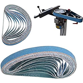 BE-TOOL Lot de 10 bandes abrasives pour ponceuse /à outils /électriques bleu