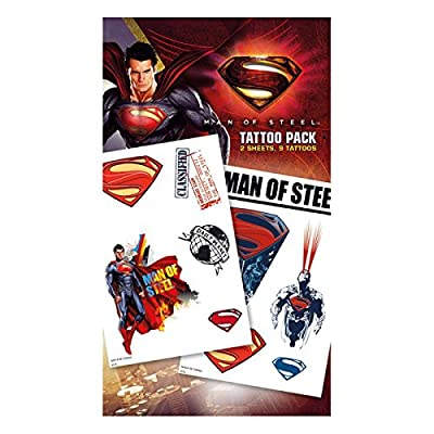 GB EYE - Tatouages Temporaires Superman Man of Steel