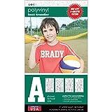 """Sport Letter Polyvinyl Transfers 3"""" 4 Sheets/Pkg-White"""