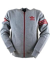 adidas Originals Sweat-shirt 96 polaire à fermeture éclair Varsity homme, Gris