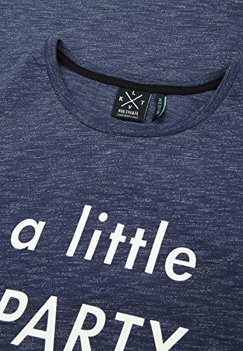 KULTIVATE Herren T-Shirt LITTLE PARTY Navy Melange