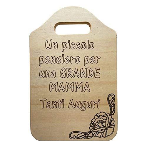 Tagliere decorativo in legno festa della mamma regalo compleanno personalizzato