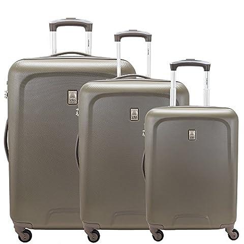 Delsey Visa Space lot de 3 valises 4 roulettes chesnut