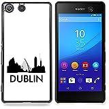 STPlus Dublín, Irlanda Postal con silueta del horizonte de la ciudad Carcasa Funda Rigida Para Sony Xperia M5 / M5 Dual
