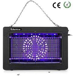 BACKTURE Lampe Anti Moustique, Économie d'énergie 7W UV LED Répulsif, Silencieux Non-Radiation, Efficace Portée 30m² Intérieur et Extérieur