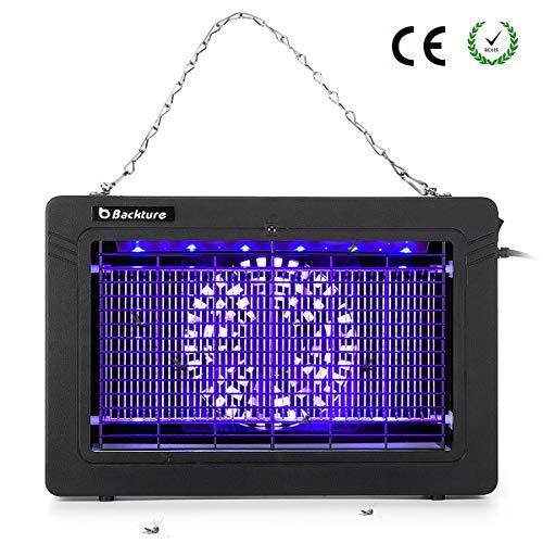 BACKTURE Lampara Mosquitos, 7W UV LED Repelente Mosquitos, Antimosquitos Electrico Lámpara para...