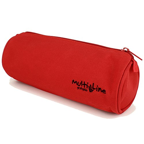 Grafoplás 37541851-Estuche escolar redondo Multiline color rojo