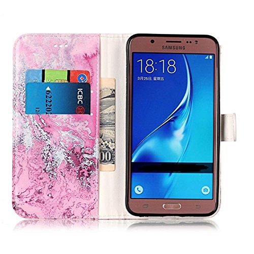 Für Samsung Galaxy J510 Horizontale Flip Case Cover Luxus Blume / Marmor Textur Premium PU Leder Brieftasche Fall mit Magnetverschluss & Halter & Card Cash Slots ( Color : H ) A