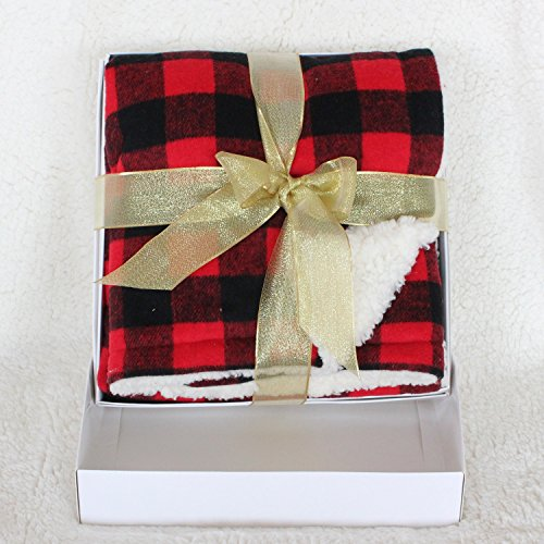 sorrento-gift-box-red-with-black-buffalo-check-baby-wrap-baby-throw-soft-and-warm-with-sherpa-bcking
