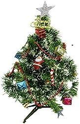 Decorative Buckets:MINI CHRISTMAS TREE : 1 FEET CHRISTMAS TREE COMBO WITH 12 pc ASSORTED CHRISTMAS TREE DECORATION ORNAMENTS WITH 1 FREE SANTA RED CAP:Xmas tree Xmas decorations