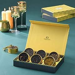 Idea Regalo - VAHDAM, Set regalo per il tè assortito | 6 TEAS | 150 grammi | Scatola di presentazione di lusso | I migliori regali di Natale per donne e uomini | Tè nero, tè verde, tisana, tè Chai | Dall'India