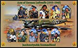 Somaliland 2011 Air Aces of the German Luftwaffe (WW2) imperf sheetlet 10 values plus 2 labels u/m AVIATION WW2 JandRStamps