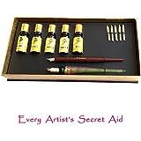 Kit Calligraphie Daveliou, 12 pièces, stylo en verre gratuit, 5 plumes, 5 encres