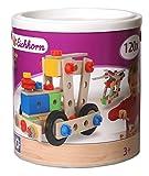 Eichhorn Holzspielwaren Holz Spielzeug Konstruktionsbausteine Bausteine Box: Menge: 120 Teile Konstruktionsbausteine