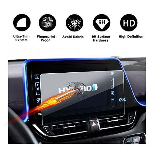 Protecteur d'écran en verre trempé pour système de navigation de (2016 - 2017) Toyota ngx50 zyx10 C-HR Touch 2, invisible Protecteur d'écran Crystal HD Clear protecteur d'écran ruiya