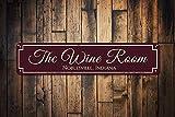 qidushop Wine Room Schild Geschenk für Wino Wine Bar Standort Decor Custom Home Bar Sign Personalized Wine Lover Sign Novelty Aluminium Metal Tin Sign Post Wall Decoration for Men