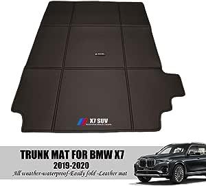 Tunan Faltbare Kofferraummatten Für Bmw X7 2019 2020 Allwetter Wasserdicht Fußmatten Hochleistungs Kofferraumauskleidung Geruchlos 1 Teilig Auto
