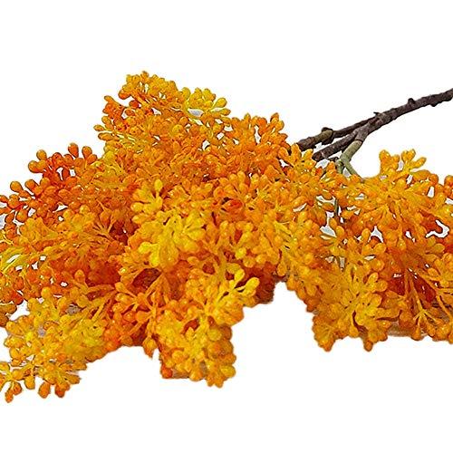 gfjhgkyu Realistisch,Home/Garden Decor 1Pc Künstliche Blume Sorghum Branch Branch Home Garden Hochzeitsparty Dekoration-Orange