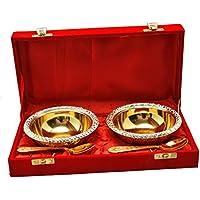 tuzech aniversarios regalo chapado en oro Latón cuenco conjunto de 2 pcs (26.035 X 13.17
