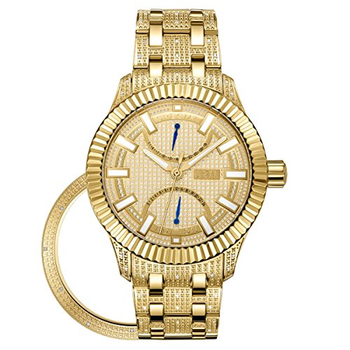 JBW Diamante Hombre Acero Inoxidable Reloj–Crowne Oro