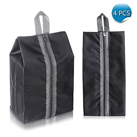 Schuhtasche 4 Stück /Organizer-Taschen Shoe Bag wasserundurchlässig mit Reißverschluss/ ideal für Reisen schwarz von WEINAS