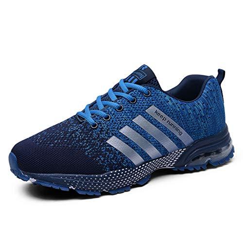 Modaworld Herren Damen Laufschuhe Sportschuhe Outdoor Running Freizeit Schuhe Turnschuhe Leicht Sneaker Black,Gray,Blue,Red 35-47