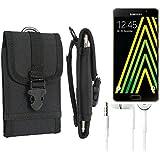 Pochette ceinture / étui pour Samsung Galaxy A5 (2016), noir + écouteurs  étui de téléphone Housse de protection sac - K-S-Trade (TM)