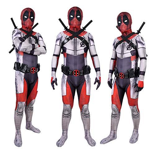 DFRTYE Erwachsene Kinder Quantenkrieg Spider-Man Halloween Kostüm Overall 3D Print Spandex Spiderman Cosplay Body,Adult-XXL